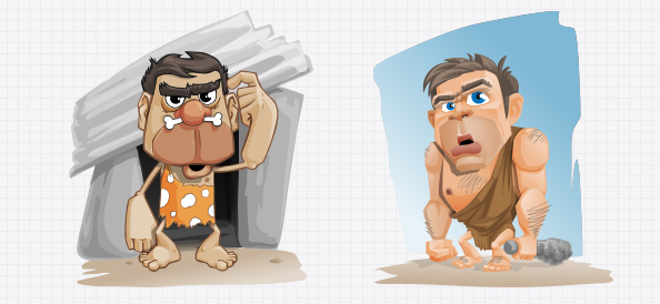 Vector Cavemen Illustrations