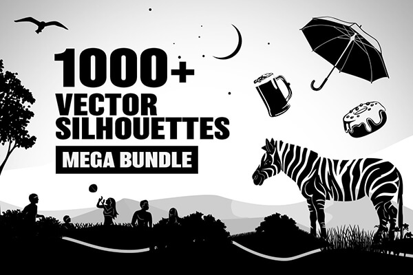 Vector Transparent Silhouettes Mega Bundle