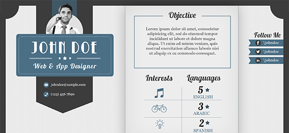 free psd retro design resume free psd files