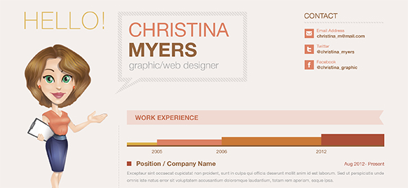 Free PSD Creative Business Resume
