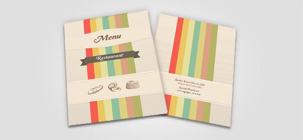 Free PSD Restaurant Menu Covers