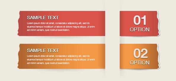 Free PSD Modern Infographics Banner