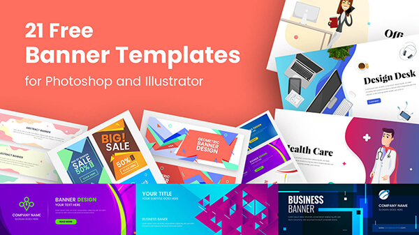 21 Free Banner Templates for Photoshop and Illustrator