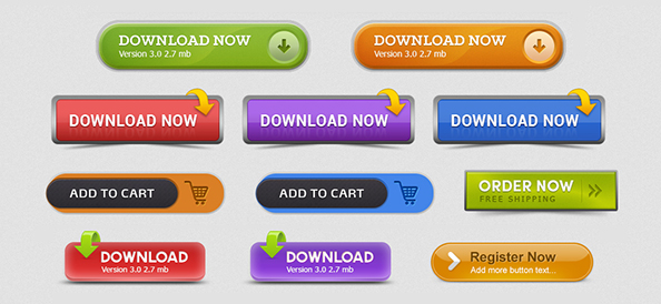 Free PSD Call to Action Buttons