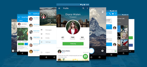 Free Mobile Application Design Template Free PSD Files - Mobile app design templates