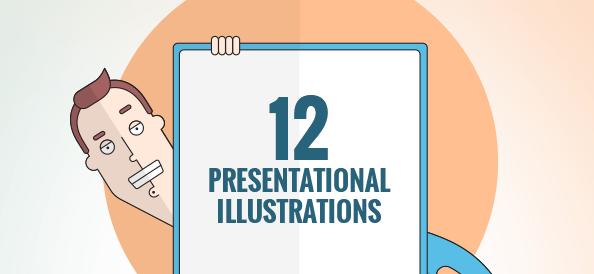 Free Vector Presentation Illustrations Set