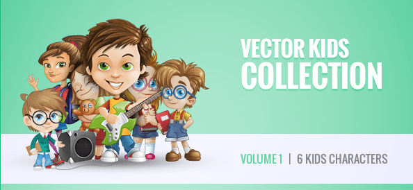 Free Vector Kid Characters Collection: Vol. 1