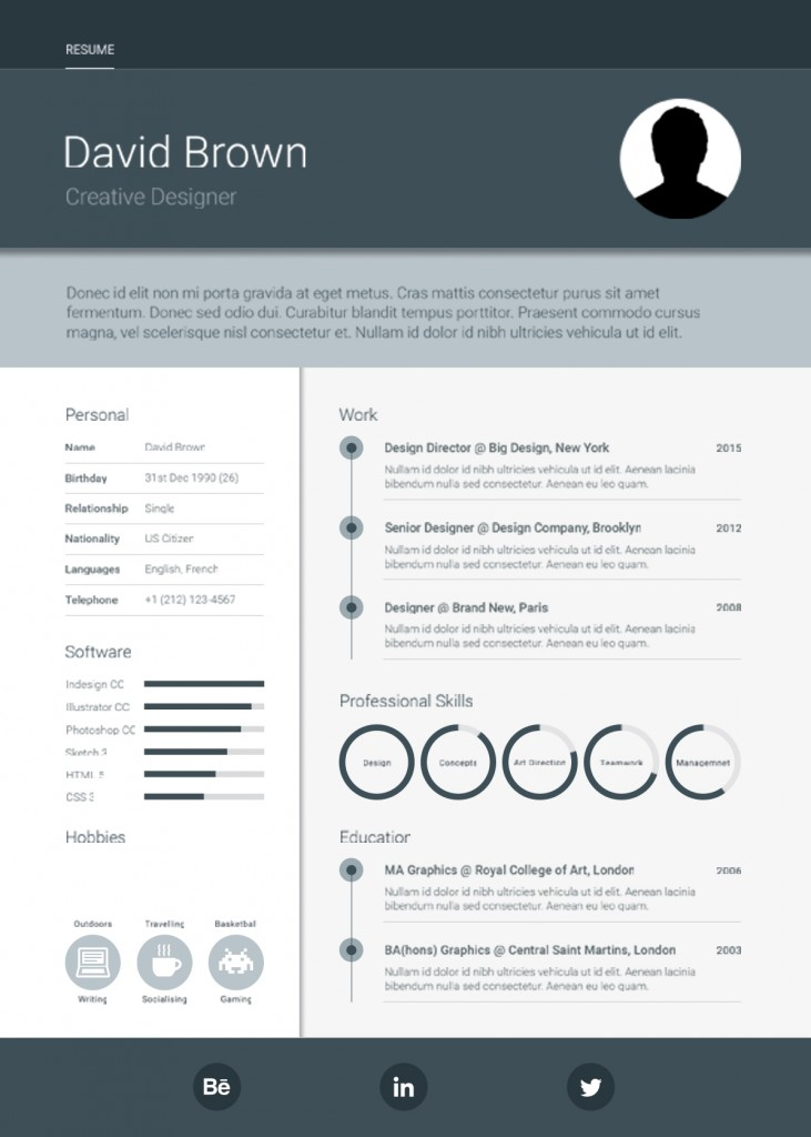 resume templates to fill in