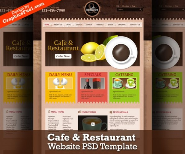 cafe-restaurant-website-psd-template