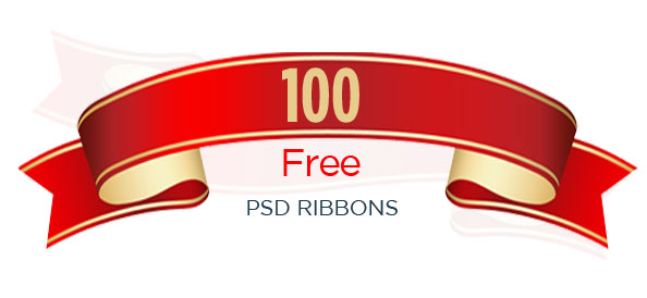 100+ Free PSD Ribbons for Impressive Web Projects