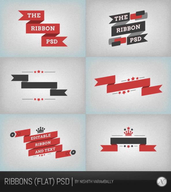 ribbons__flat__psd