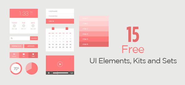 15 Handy & Free PSD UI Elements, Kits and Sets