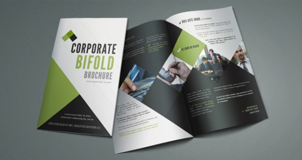 enjoy bi fold corporate brochure template