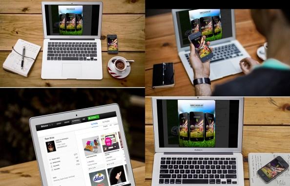 Responsive Showcase Mockup Free PSD