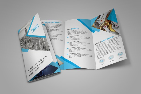 Free Tri-Fold Brochure Template InDesign