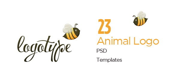 23 Extra Creative Free PSD Animal Logo Templates