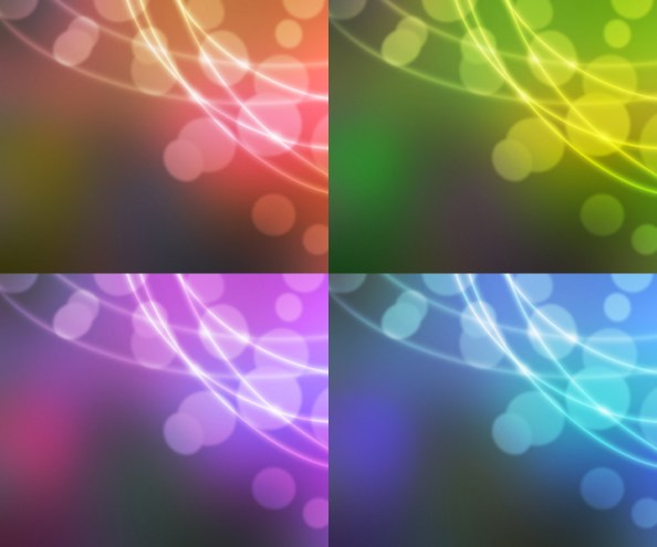 bokeh background in 4 colors