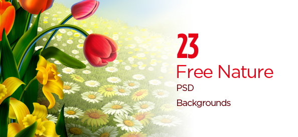 23 Free PSD Nature Backgrounds: Abstract, Watercolor, Realistic