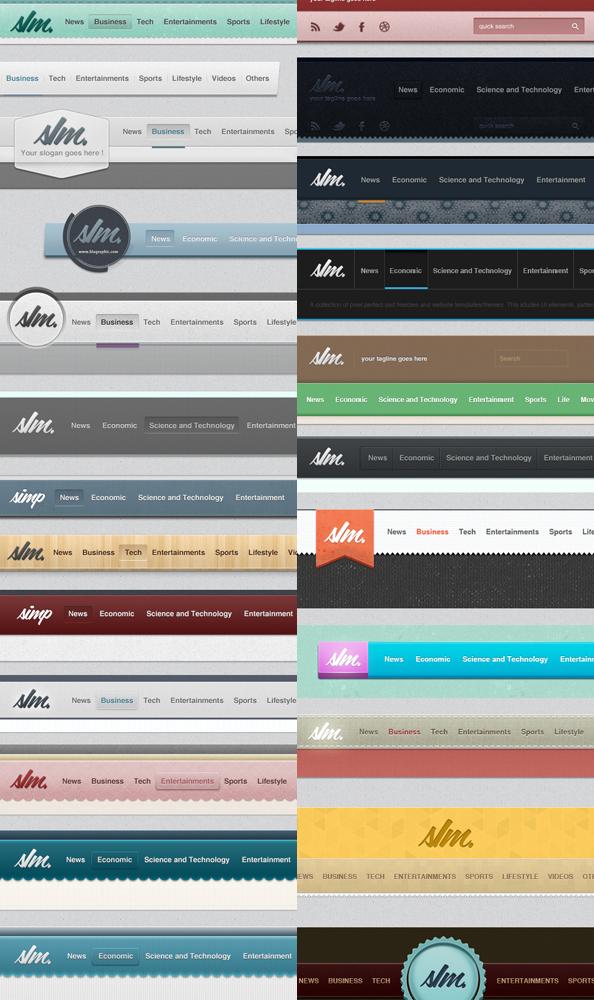 navigation menus collection