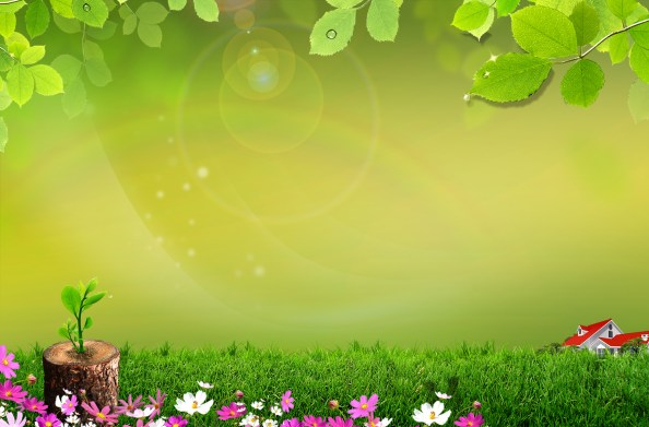 spring background fully layered psd 1800x1184