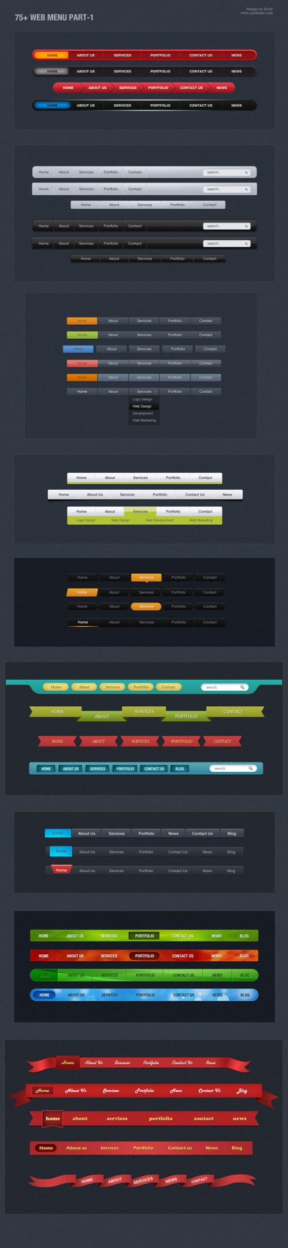 web-menu-navigation