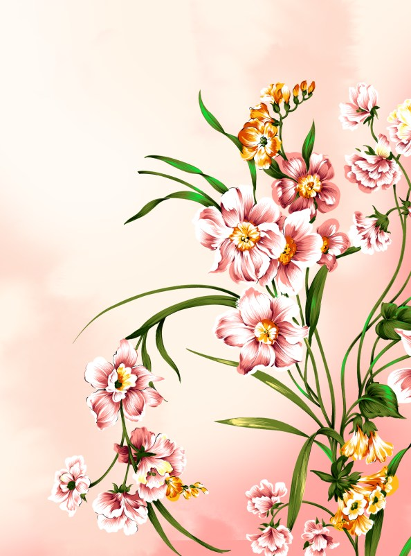floral free psd background