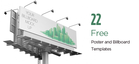 22 Free PSD Advertising Mockup Templates: Posters, Billboards, Etc.