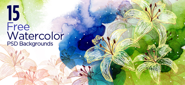 15 Free PSD Watercolor Backgrounds for Artistic Designs