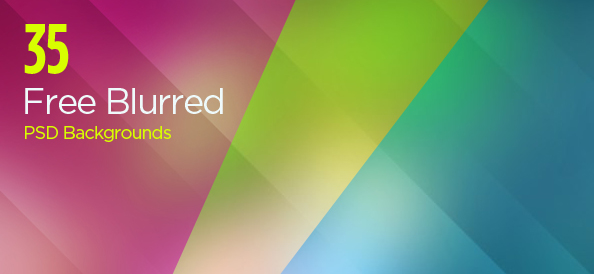 35 Free PSD Blurred Backgrounds with Beautiful Gradients