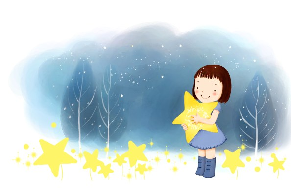 girl with stars 2918x1958