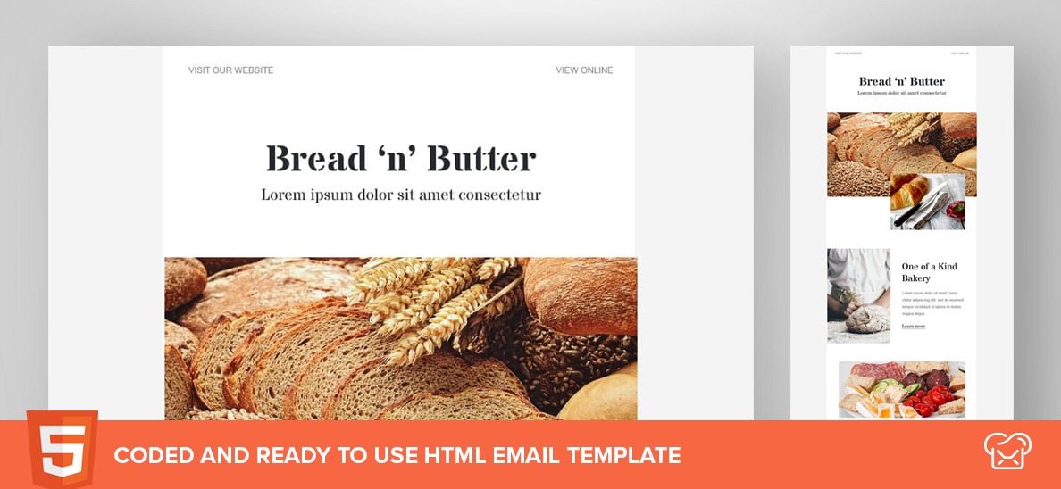 Bread 'n' Butter – Free HTML Email Template