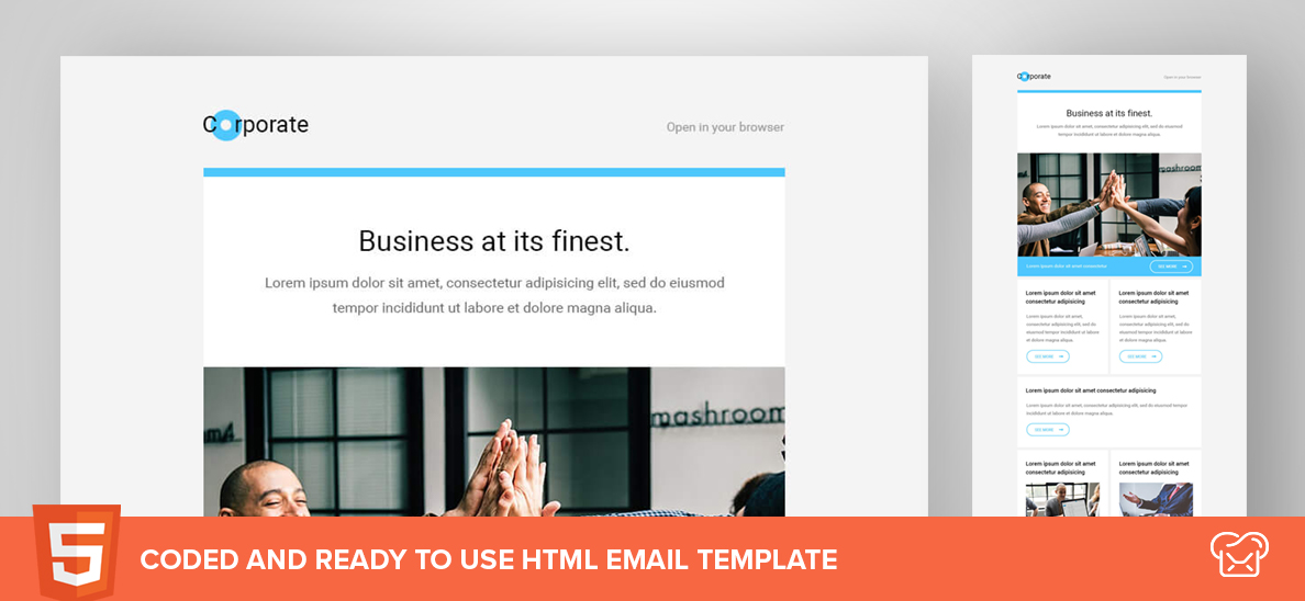 Corporate – Free HTML Email Template