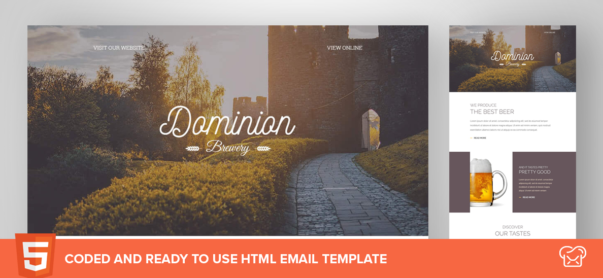 Dominion – Free HTML Email Template