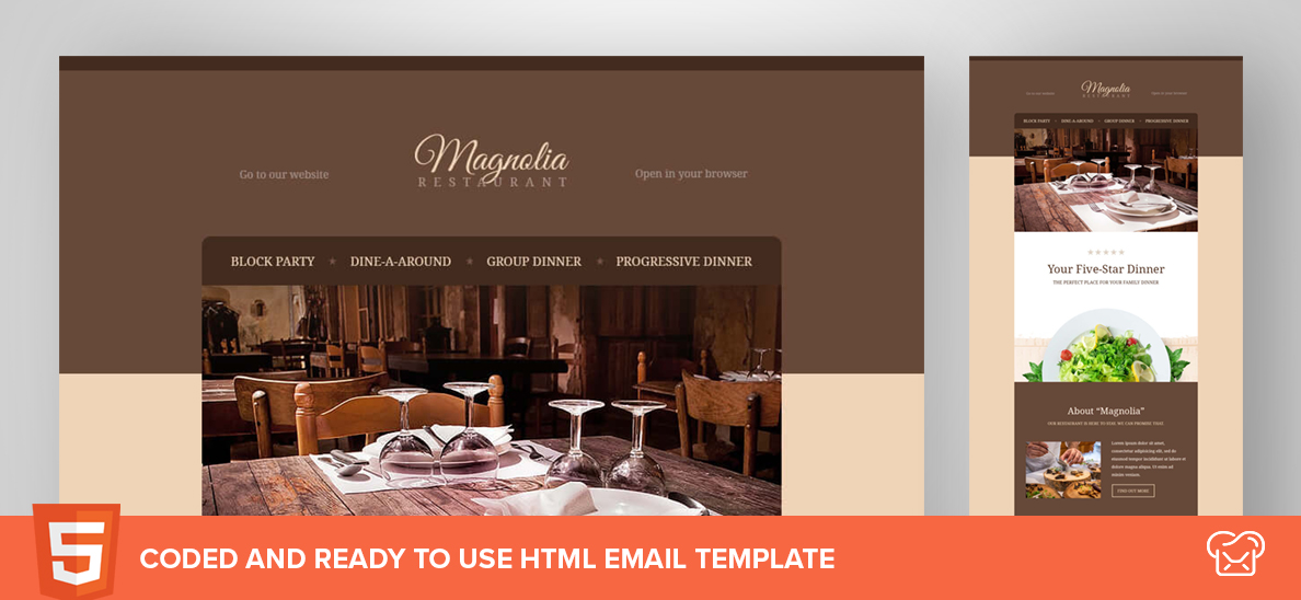 Magnolia – Free HTML Email Template