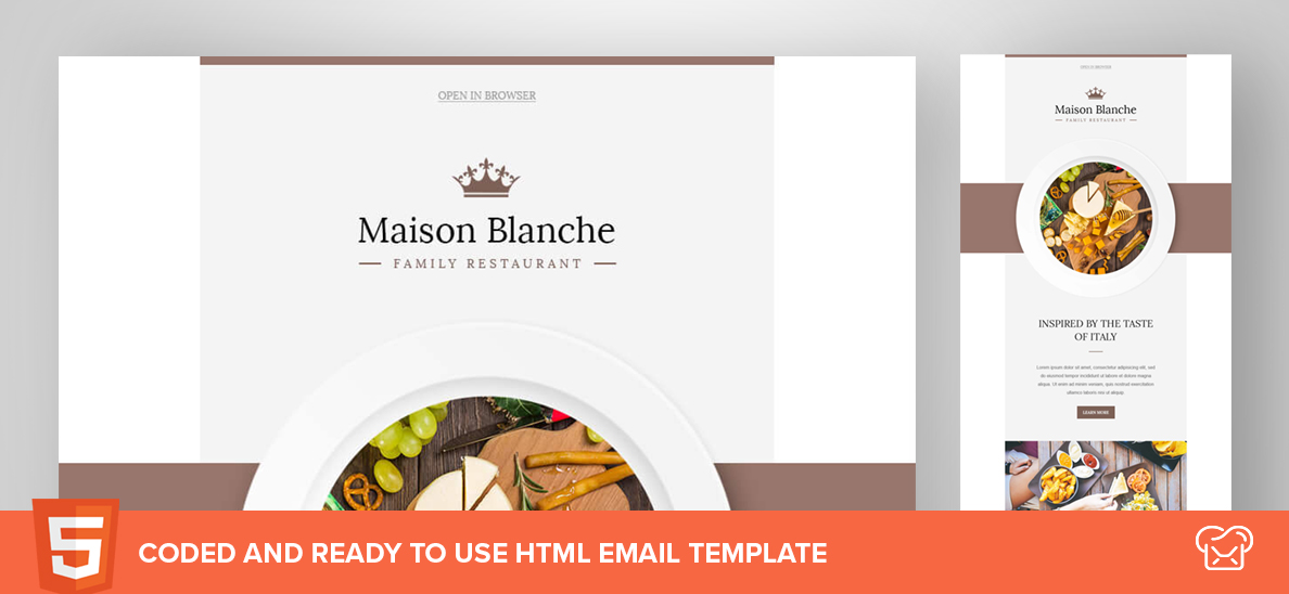 Maison Blanche – Free HTML Email Template