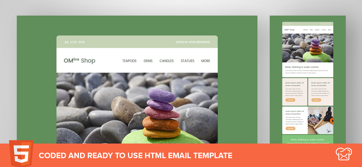OM-Line Shop – Free HTML Email Template
