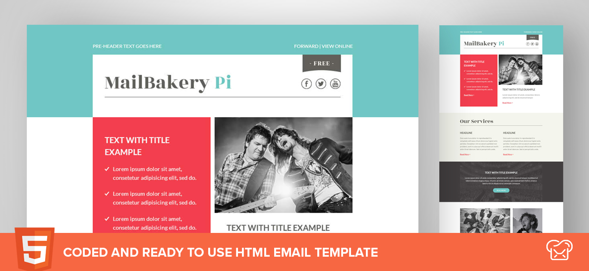 Mailbakery Pi – Free HTML Email Template
