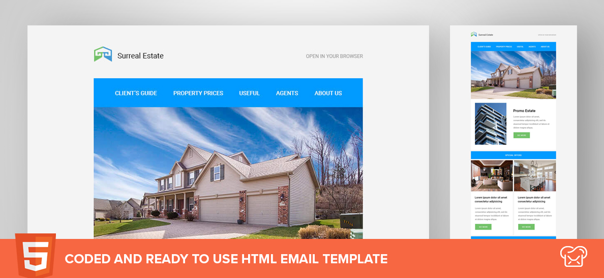 Surreal Estate – Free HTML Email Template