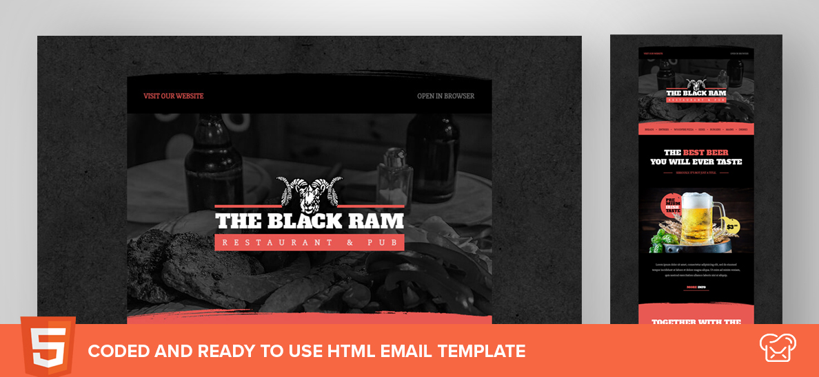 The Black Ram – Free HTML Email Template