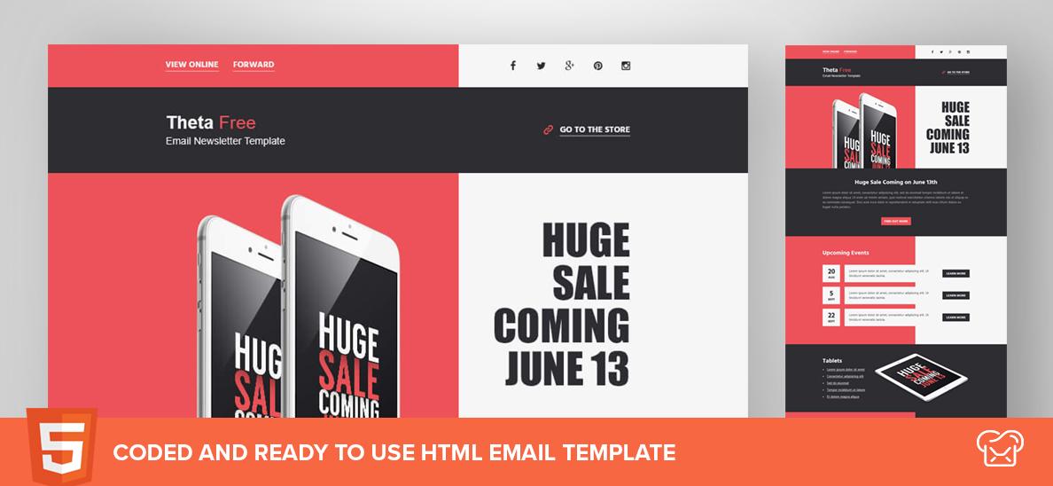 MailBakery Theta – Free HTML Email Template