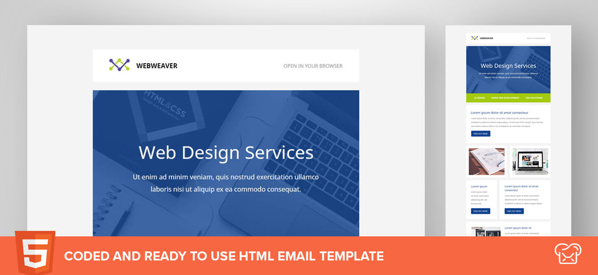 Webweaver – Free HTML Email Template