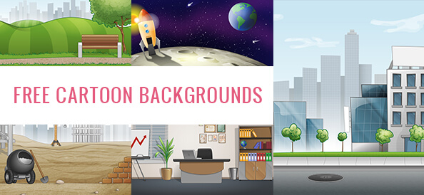 Free Cartoon Backgrounds Set