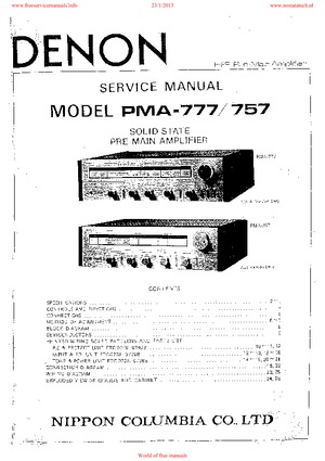 denon PMA-777 PMA-757 Free service manual pdf Download