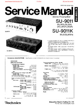 Technics SU-9011 SU-9011K Free service manual pdf Download