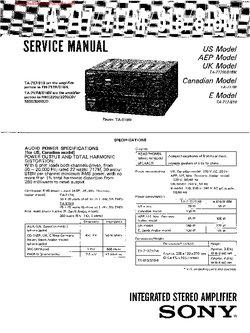 Sony TA-717 TA-717M TA-818 TA-818M Free service manual pdf