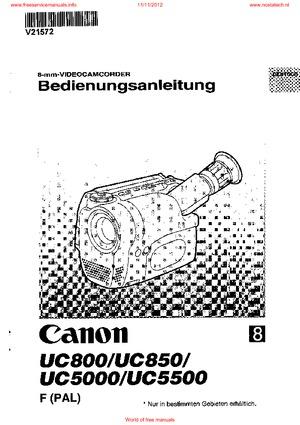 canon UC800 UC850 UC5000 USER GUIDE Free service manual