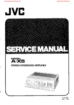 JVC A-X5 Service Manual PDF Free Download
