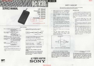 Sony AC-V30 Free service manual pdf Download