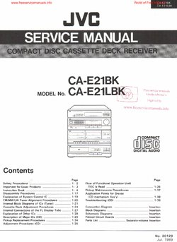JVC CA-E21BK CA-E21LBK Free service manual pdf Download