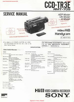 Sony CCD-TR3E Free service manual pdf Download